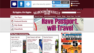 Maroon Weekly - Newspaper Layout
